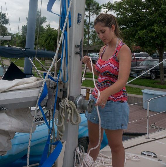 The easiest way to climb the mast